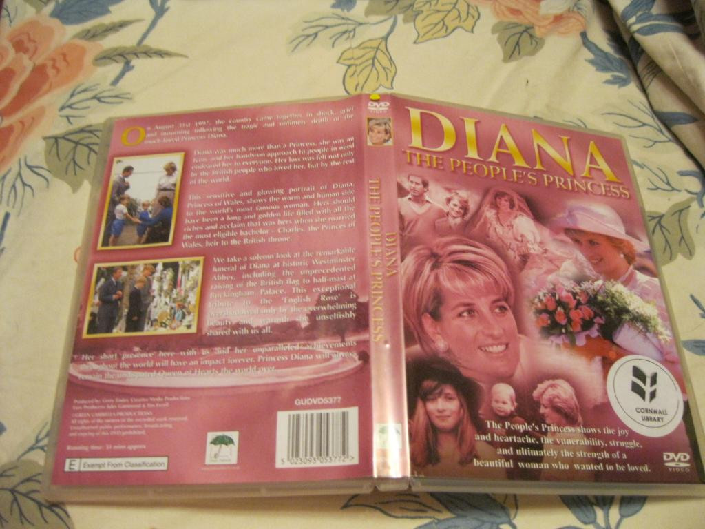 Принцесса ДИАНА на английском английский диск DVD