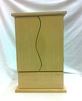 Ключница Волна с дверкой и шухлядкой 20х8.5х30 см №024 дерево заготовка для декора