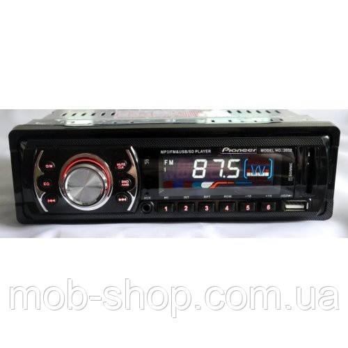 Автомагнитола пионер Pioneer 2032 MP3+Usb+Sd+Fm+Aux+пульт (4x50W)