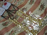 Заколка повязка резинка обруч белый жемчуг с золотом