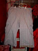 Шорты бриджи капри штаны клетка 54-58 XXL женские летние
