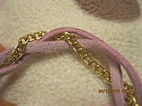Повязка греческая для волос как замша обруч заколка розовая с золотом фирменная