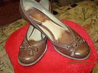 Туфли 40 р интересные кожа БРАЗИЛИЯ женские рыжие