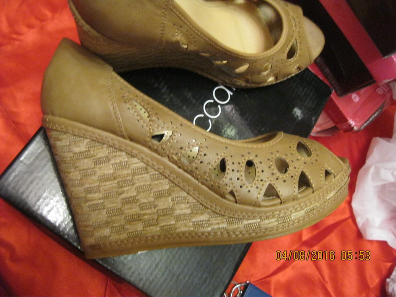 Туфли босоножки легкие женские T.Taccardi бежевые платформа 41р удобная модель