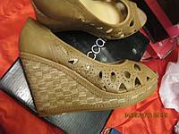 Туфли босоножки легкие женские T.Taccardi бежевые платформа 41р удобная модель, фото 1