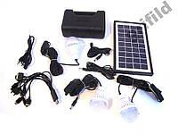 Аккумулятор фонарь от солнечной батареи GD8017Plus / Ручной аккумуляторный светодиодный фонари