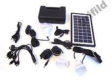 Аккумулятор фонарь от солнечной батареи GD8017Plus / Ручной аккумуляторный светодиодный фонари, фото 2