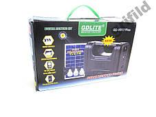 Аккумулятор фонарь от солнечной батареи GD8017Plus / Ручной аккумуляторный светодиодный фонари, фото 3
