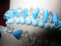 Браслет лот=3 шт симпатичные украшение голубой