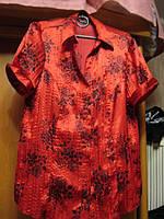БЛУЗА блузка кофточка 16 50 L красная блуза