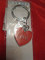 Красное сердце с надписью-LOVE сувенир брелок