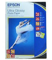 Фотобумага epson a4 ultra glossy photo paper 15 листов (c13s041927)