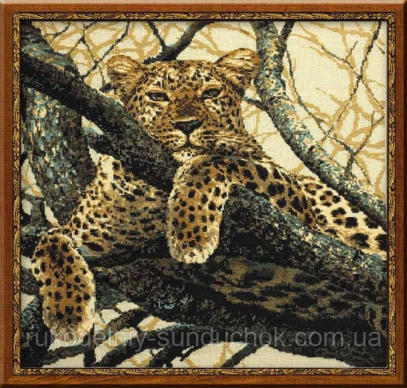 Набор для вышивания крестом «Леопард» (937), Риолис