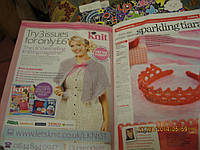 Книга на английском языке книга Knitting&Crochet журнал
