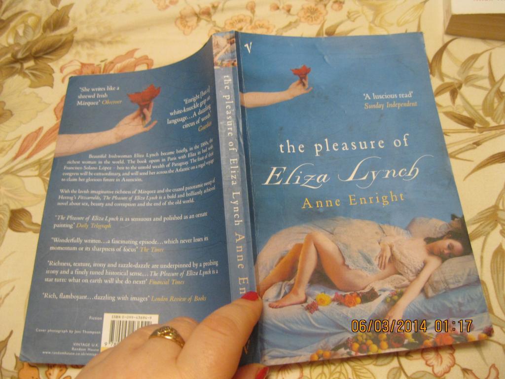 На английском языке книга ANNE ENRIGHT The pleasure of Eliza Lynch роман
