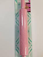 """Скалка для мастики розовая """"Завиточки""""(код 02215)"""