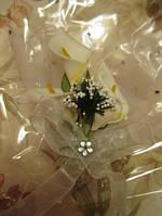 Магнит СВАДЕБНЫЙ букет Британия цветы белые КАЛЫ