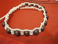 Браслет шамбала из Индии бусины-деревянные браслет сувенир