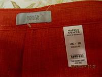 Бриджи капри шорты красные 18 52 XL брюки M&S