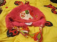 Шапка 3-6лет ДЕТСКАЯ меховая розовая NEXT , фото 1