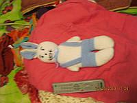 Заяц коллекция игрушка вязаная и морковка хэндмэйд