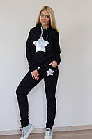 Спортивный женский костюм Звезда с капюшоном, фото 1