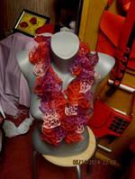 Шарф шарфик женский яркий ажурный разноцветный