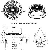 Люк смотровых колодцев тип Л (легкий) до 3 тонн