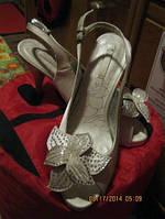 Туфли босоножки фирма белые 41р стразы