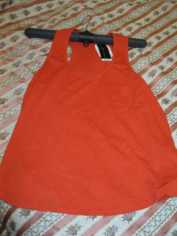 Майка футболка нова 18 52 XL ЧЕРВОНА фирменнаяхлопок