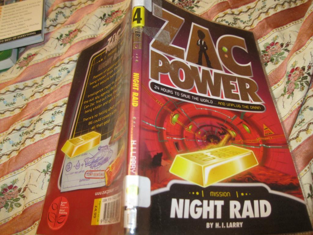 На английском языке книга ZAC POWER английский
