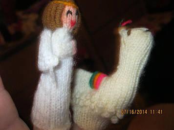Игрушка кукольный театр на палец лот=2штуки игрушки АНГЕЛ
