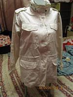 Ветровка куртка женская XL 52 18 Casual Comfort белая ХЛОПОК