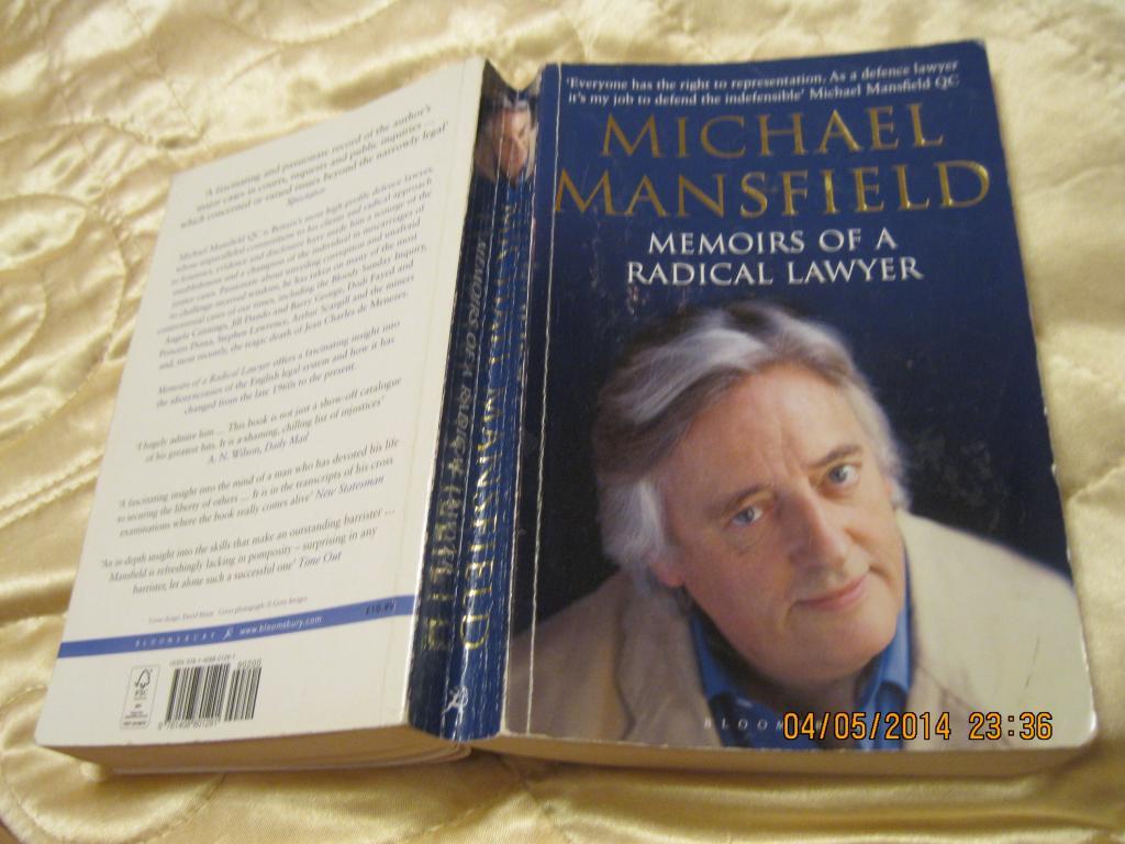 Книга MICHAEL MANSFIELD на английском языке книга АНГЛИЯ