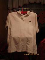 Мужская футболка рубаха шведка поло белая 50-52 L LACOSTE