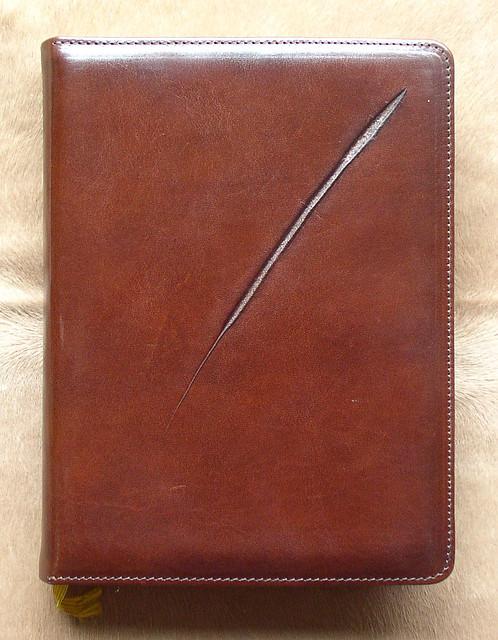 """Необычный ежедневник формата А-5 из натуральной кожи """" Метка """" купить прекрасный бизнес-подарок недорого"""