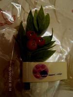 Брошь брошка фирменная ветка ягоды лист
