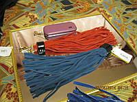Брелок НА СУМКУ хвостик хвост замша натуральная цвет- синий!, фото 1