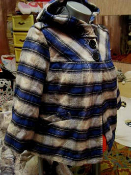 Пальто куртка полупальто с капюшоном в клетку  женское 50 L 16 фирмы Atmosphere