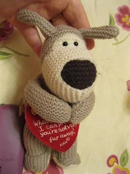 Игрушка мягкая BOOFLE СОБАКА пес интересная сердце