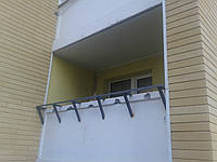 Вынос лоджий и балконов короткий, без обшивки, Киев