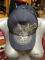 Плейбой PLAYBOY кепка серо-синяя 1953 стразы шляпа