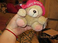 Мишка медведь Тедди новый в шляпе с днем рождения HALLMARK редкий МЯГКАЯ ИГРУШКА