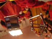 Запонки украшение женские фирменные оригинальные квадратные из ИТАЛИИ, фото 1