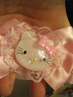 Повязка кошка КИТТИ ажурная детская розовая новая