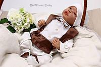 """Комбинезон для новорожденного """"Фрак""""  шоколад"""