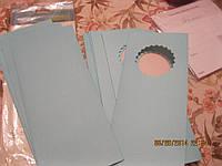 набор Конвертов открытки пачка новые  голубые из британии