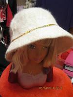 Шляпа шапка бежевая 56-58р супер ангора, фото 1