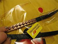 Пояс РЕМЕНЬ женский новый узкий черный золото шипы