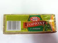 Сыр  плавленый с зеленью 100 г. Польша.